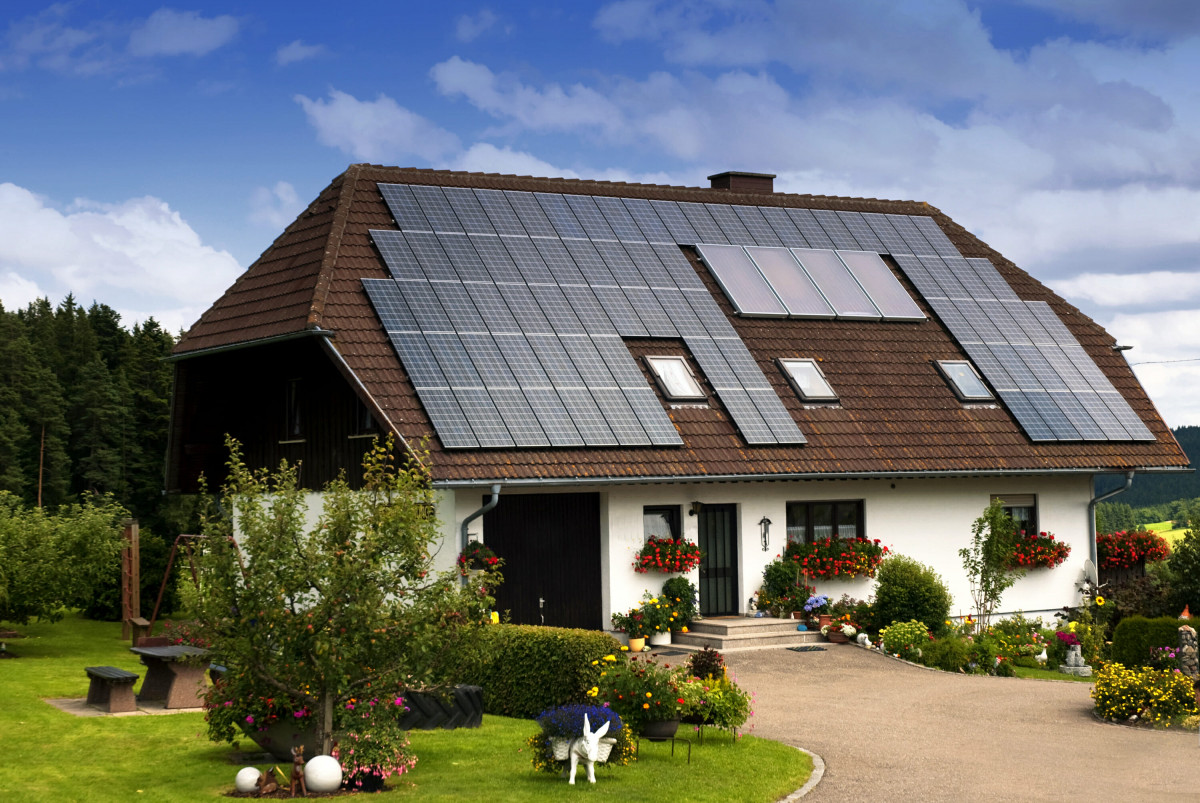 solar panel in the house